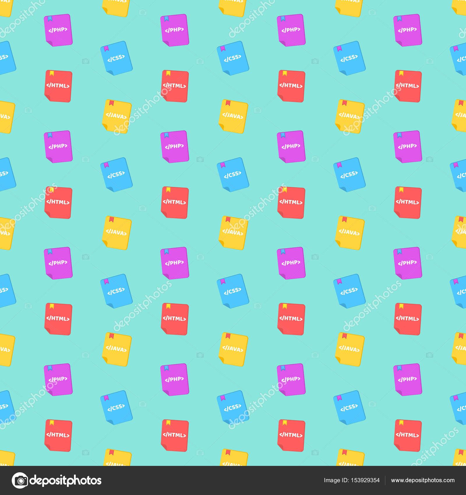 Un patrón de lenguajes de programación. Libros de colores. Colores ...