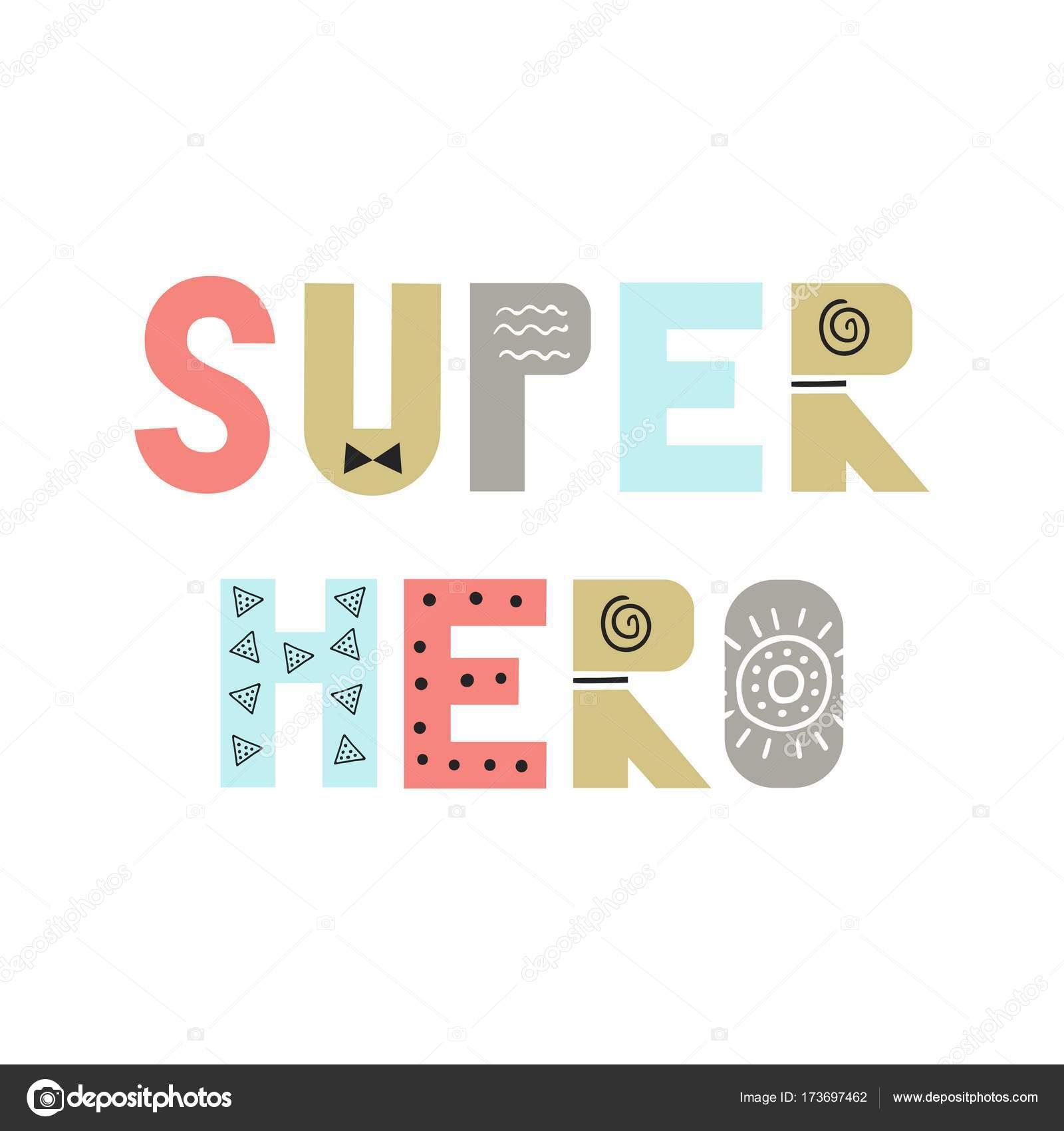 Superhelden - lustige Kinderzimmer Poster mit Schriftzug im ...
