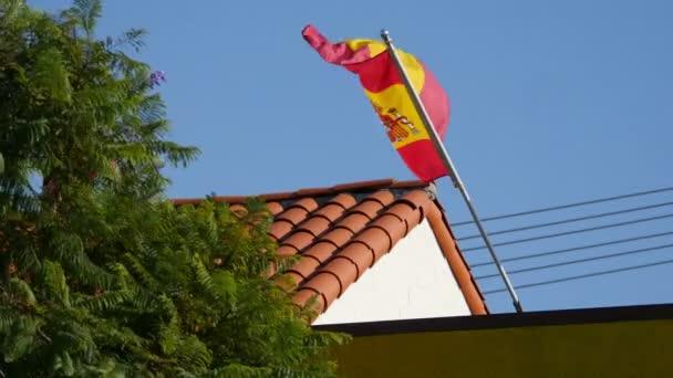 Video of Spanish Flag in 4K