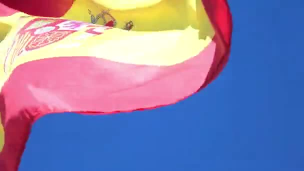 Videó a spanyol zászló, 4 k