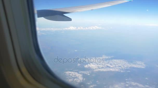 Video of airplane window in 4k