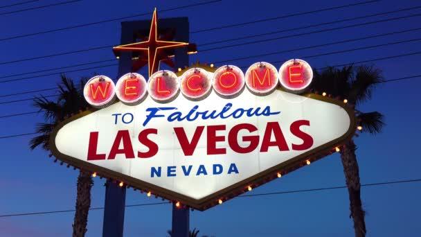 Video z Vítejte Skvělé Las Vegas znamení v noci v rozlišení 4k