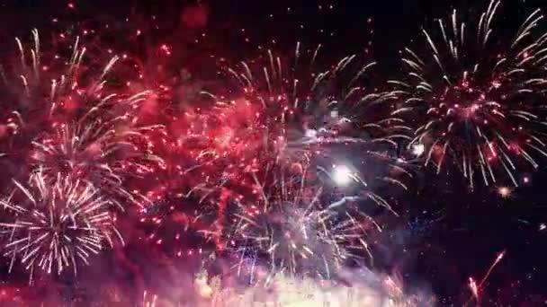 Video von erstaunlichem Feuerwerk in 4k