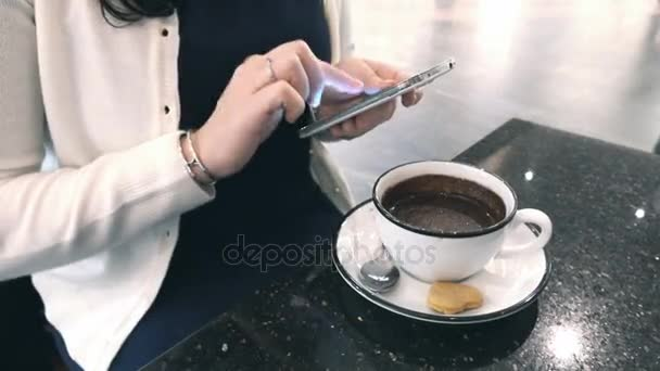 Time lapse video of woman using phone in 4K