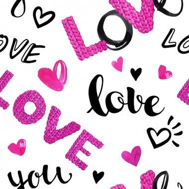 Valentine s Day seamless pattern