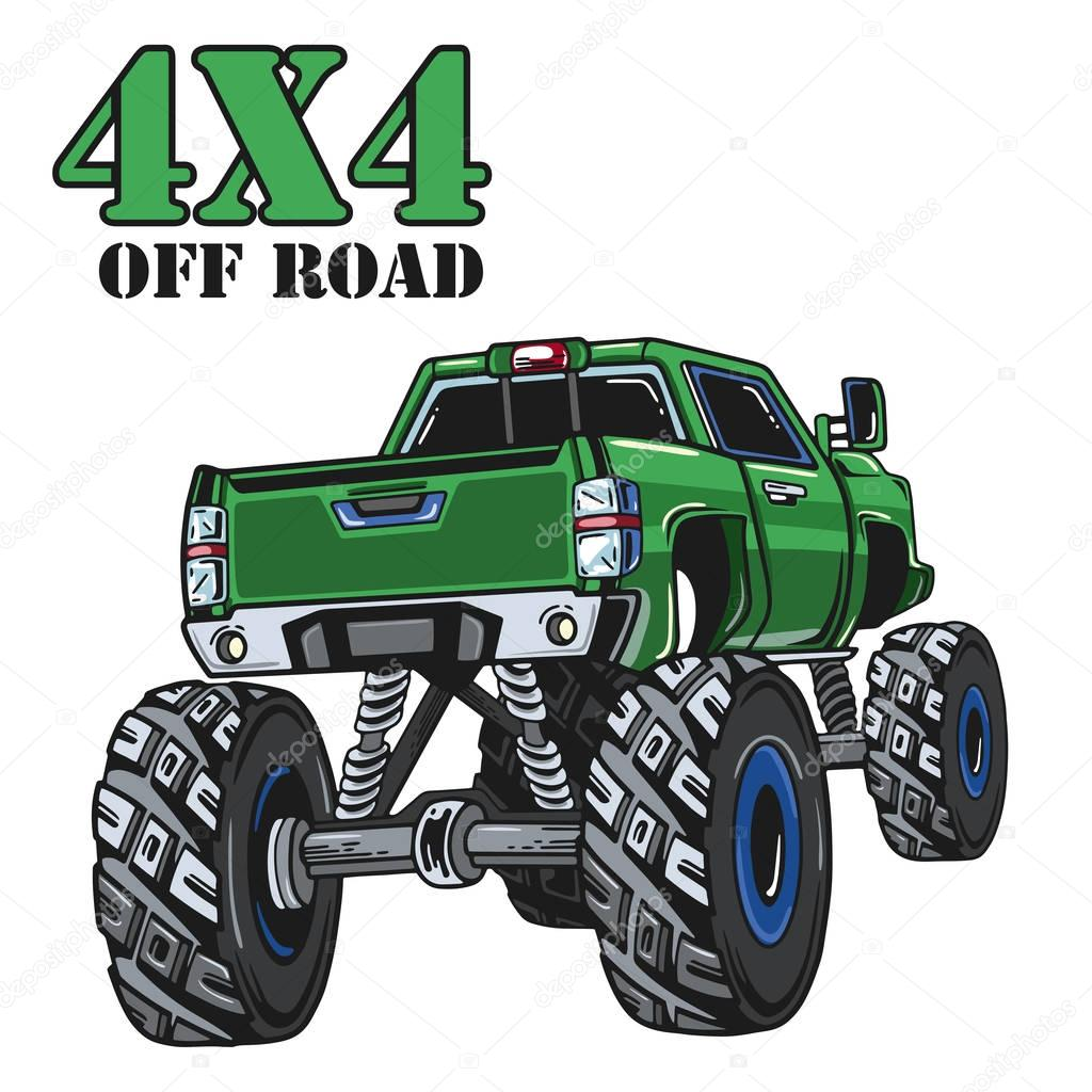 Dibujos: Camiones Monstruos Para Imprimir