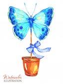 Kézzel festett pillangó
