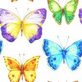 Kézzel festett pillangók zökkenőmentes minta