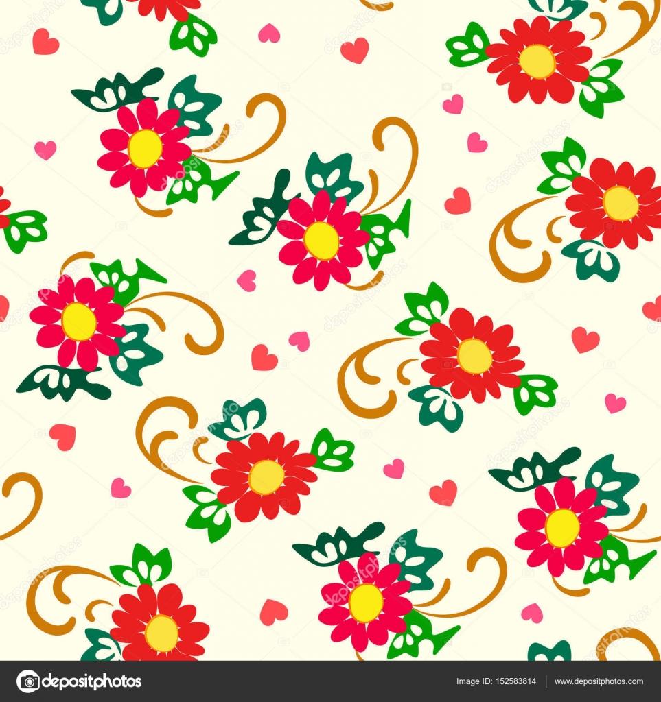 Illustration De Vecteur De Dessin Fleurs Simple Rouge Image