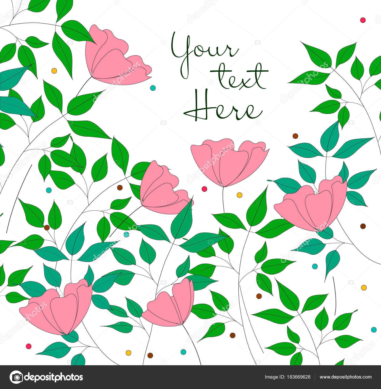 簡単な手のベクトル イラスト白背景に花を描かれました ストック