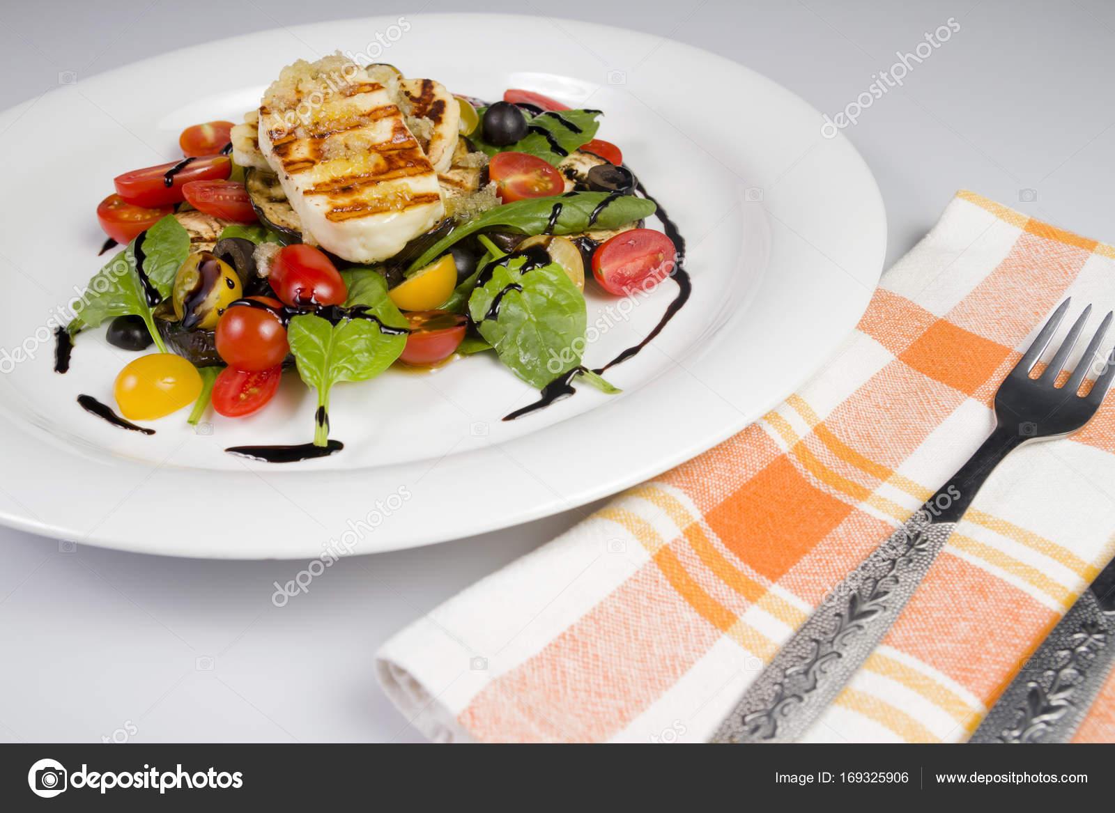 Kızartılmış Hellim Peyniri ve Patlıcan Dilimleri