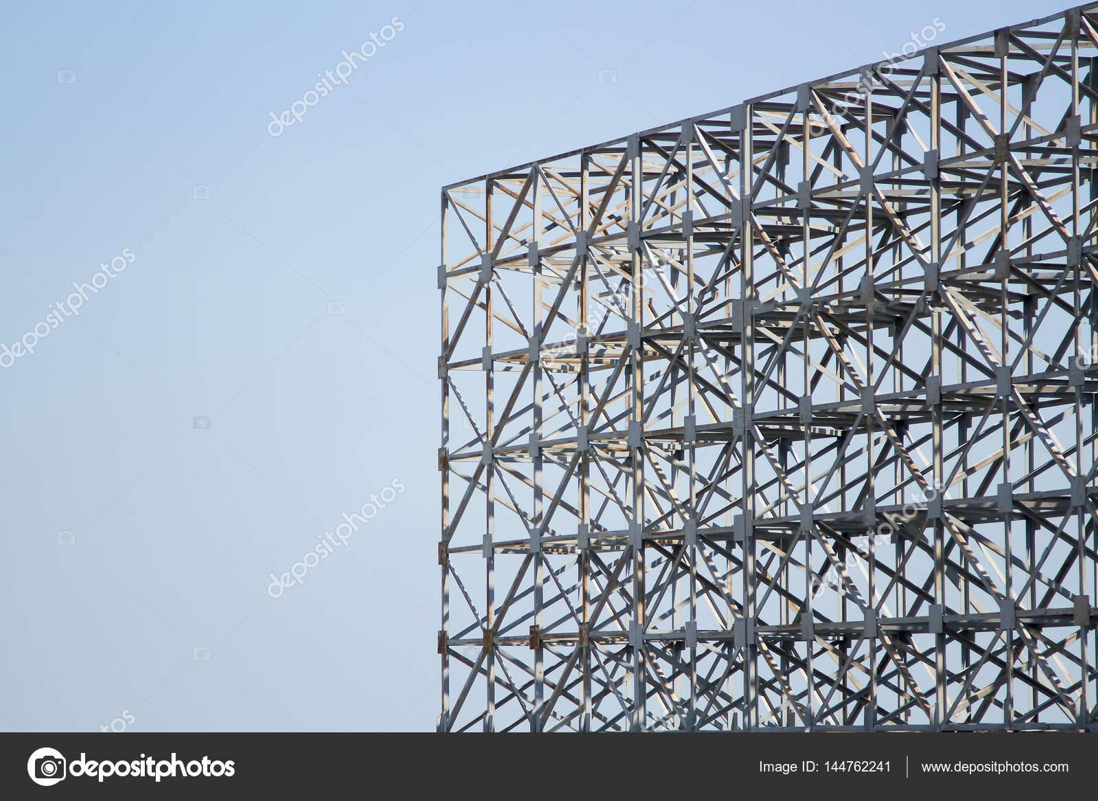 Marco de acero estructura es viejo para el fondo — Foto de stock ...