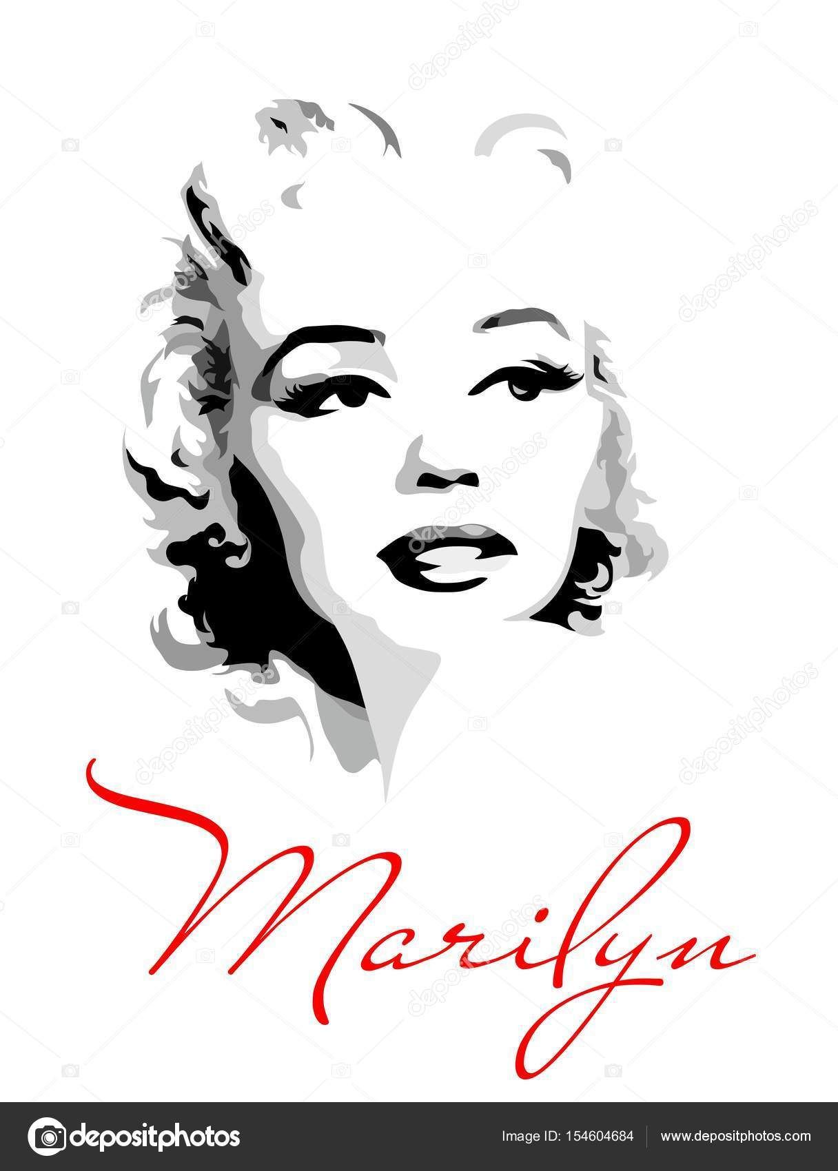 marilyn monroe vector stock vectors royalty free marilyn monroe vector illustrations depositphotos https depositphotos com 154604684 stock illustration marilyn monroe black and white html