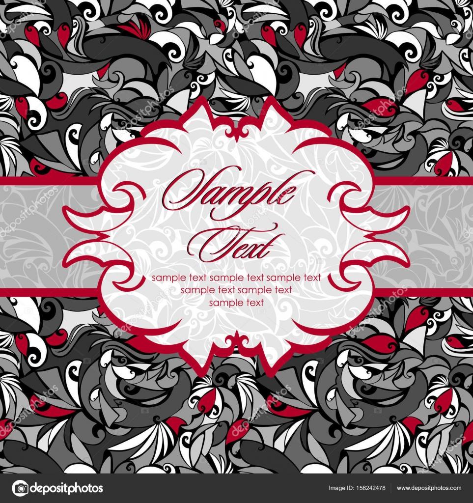 Vintage En Noir Et Blanc Avec Des Accents Rouges Et