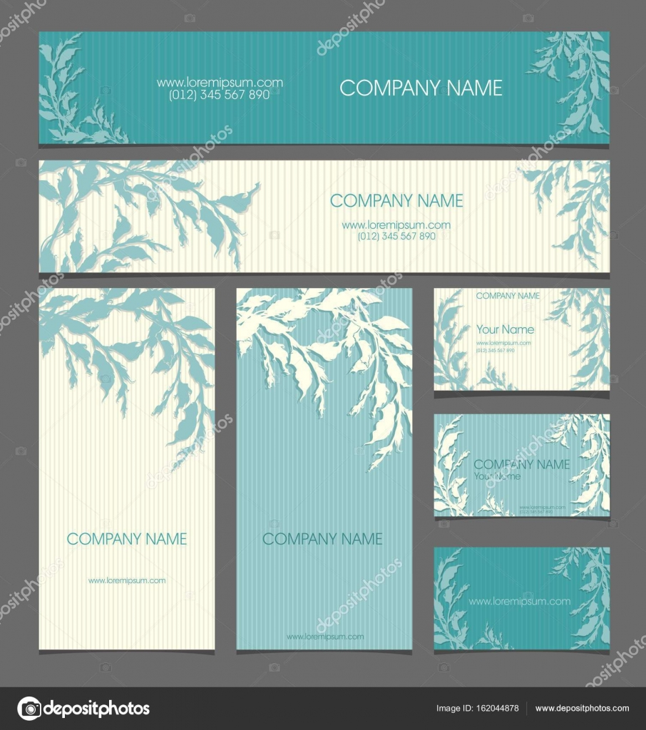 Floral style for the companyrecruitment business cards banners floral style for the companyrecruitment business cards banners postcards in shades colourmoves