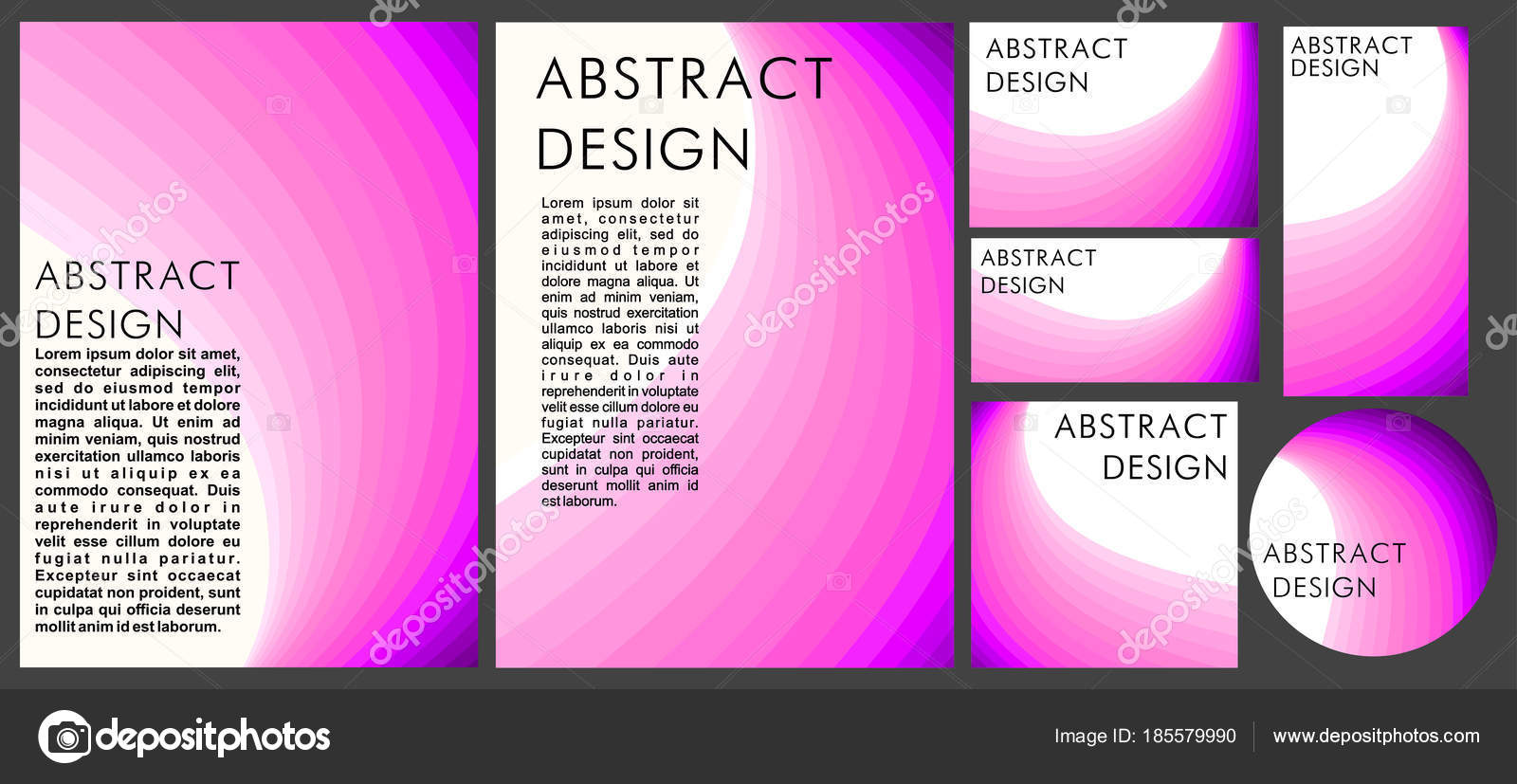 Abstract pink fuchsia white background linear geometric style set abstract pink fuchsia on a white background in a linear geometric style set of different formats book disc business card banner vetor de xennya reheart Image collections