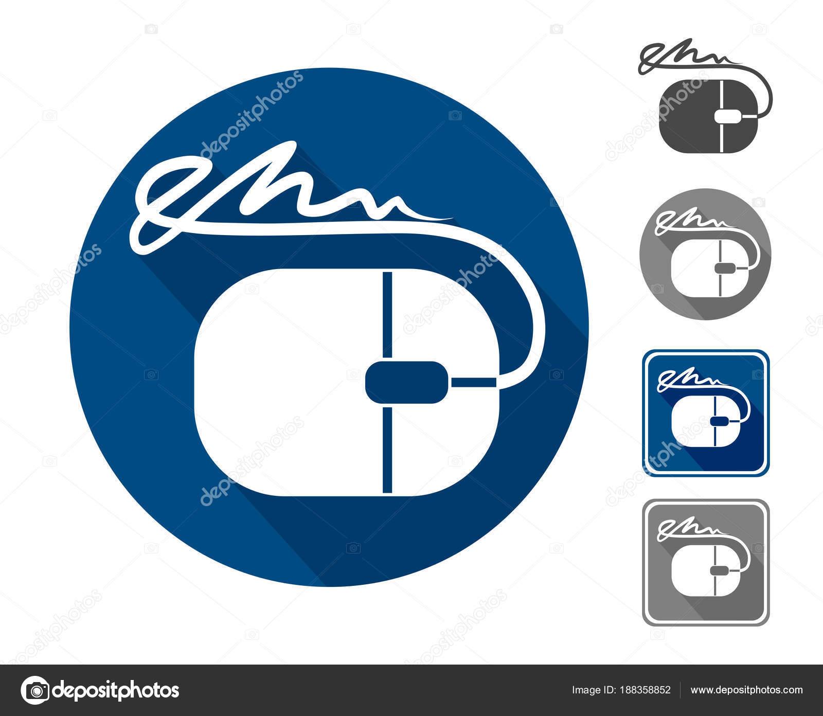 Elektronische Signatur Symbol Ein Zeichen Form Von Einer Maus Und ...