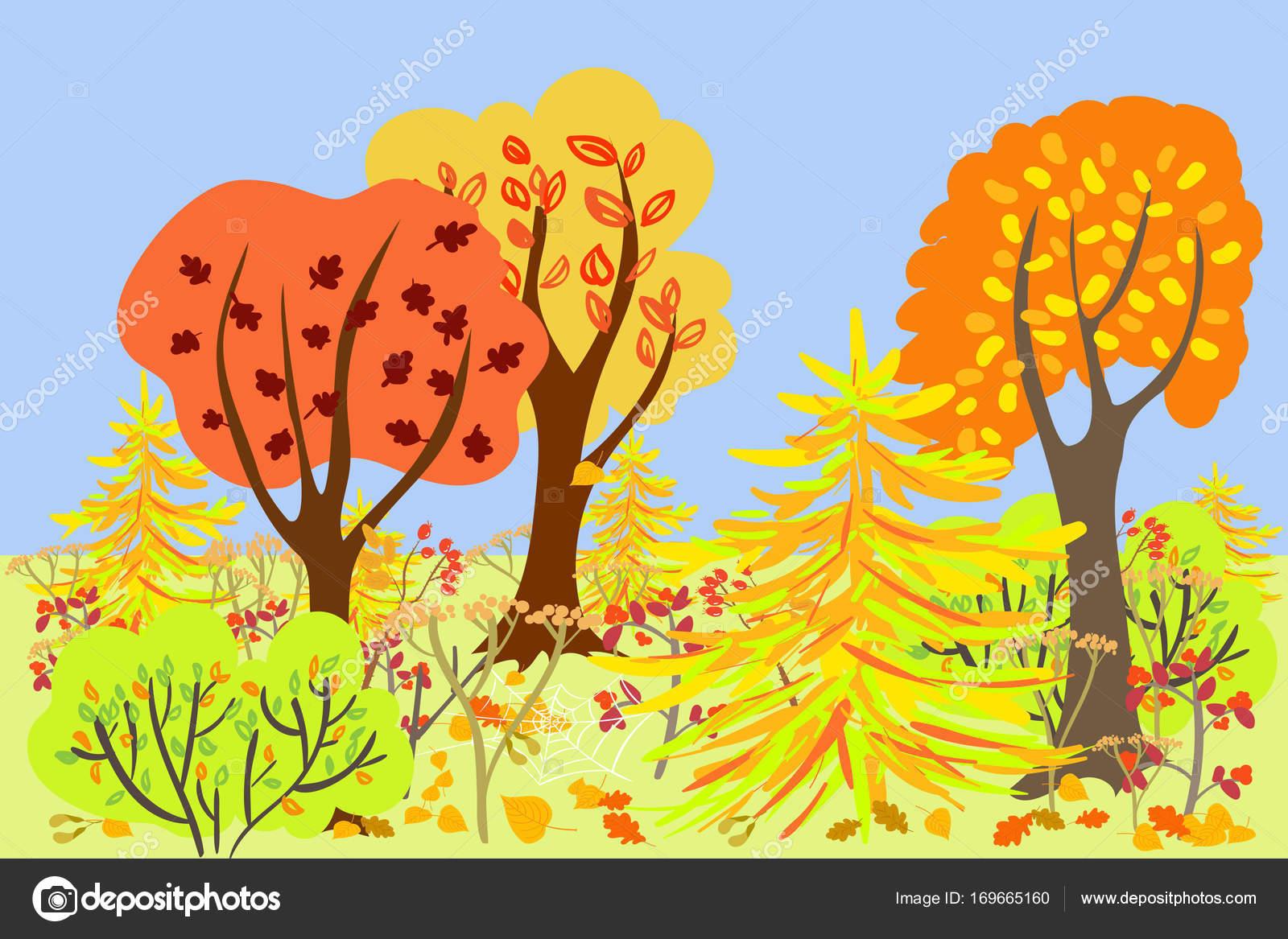 For t d automne dessin anim image vectorielle mila che 169665160 - Paysage d automne dessin ...