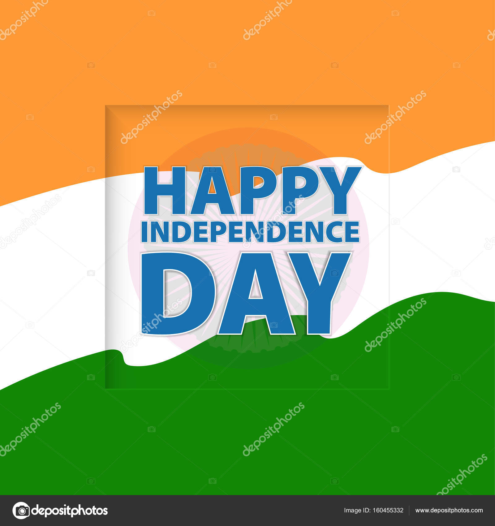 Happy Independence Day India Vector Illustration Greeting Card