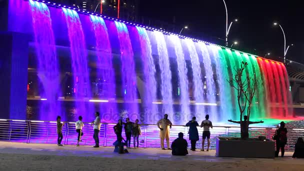 Dubai Water Canal Waterfall u2014 Stock Video & Dubai Water Canal Waterfall u2014 Stock Video © philipus #133716346