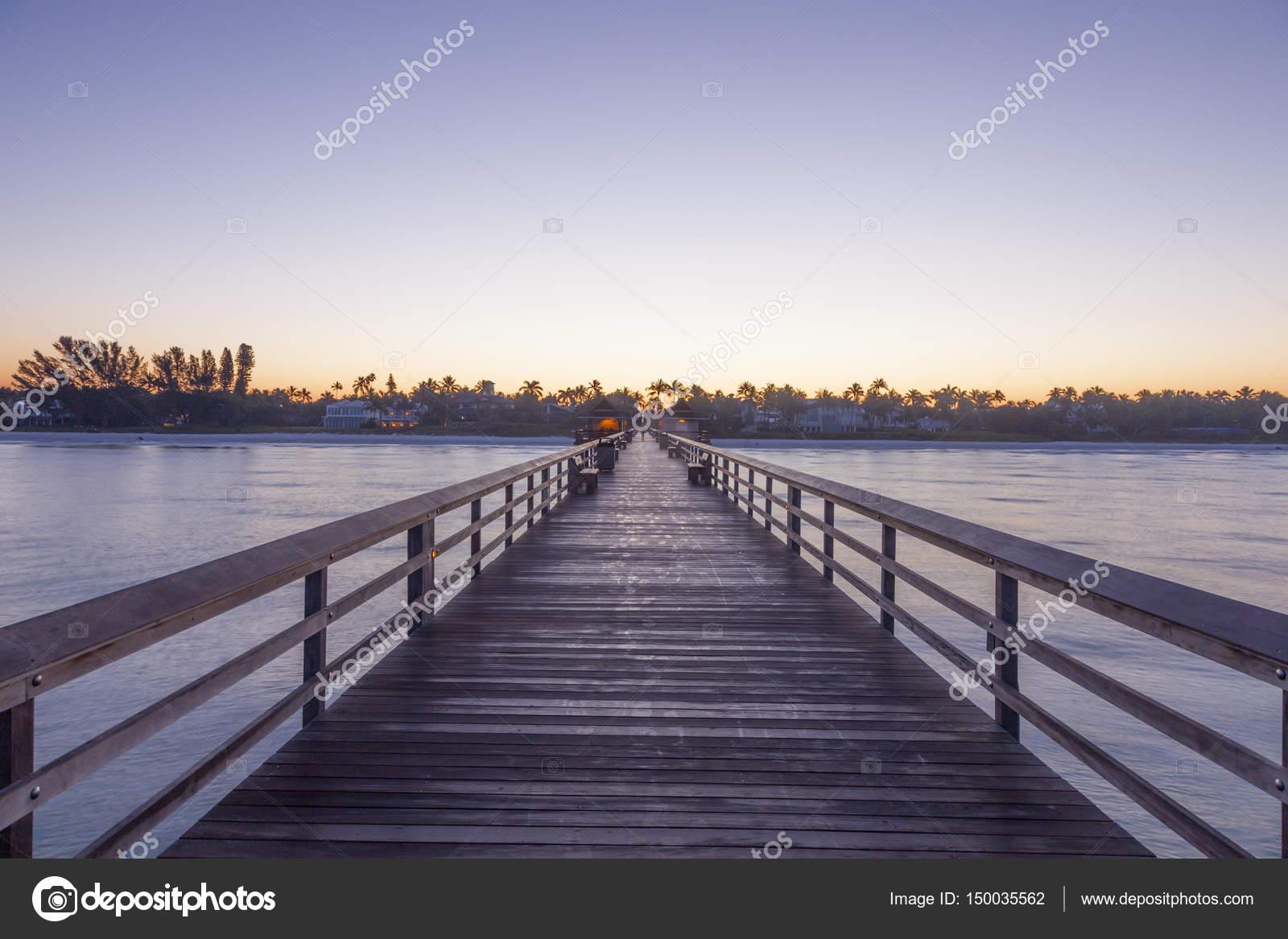 Angelsteg In Neapel Bei Sunrise Florida Stockfoto Philipus