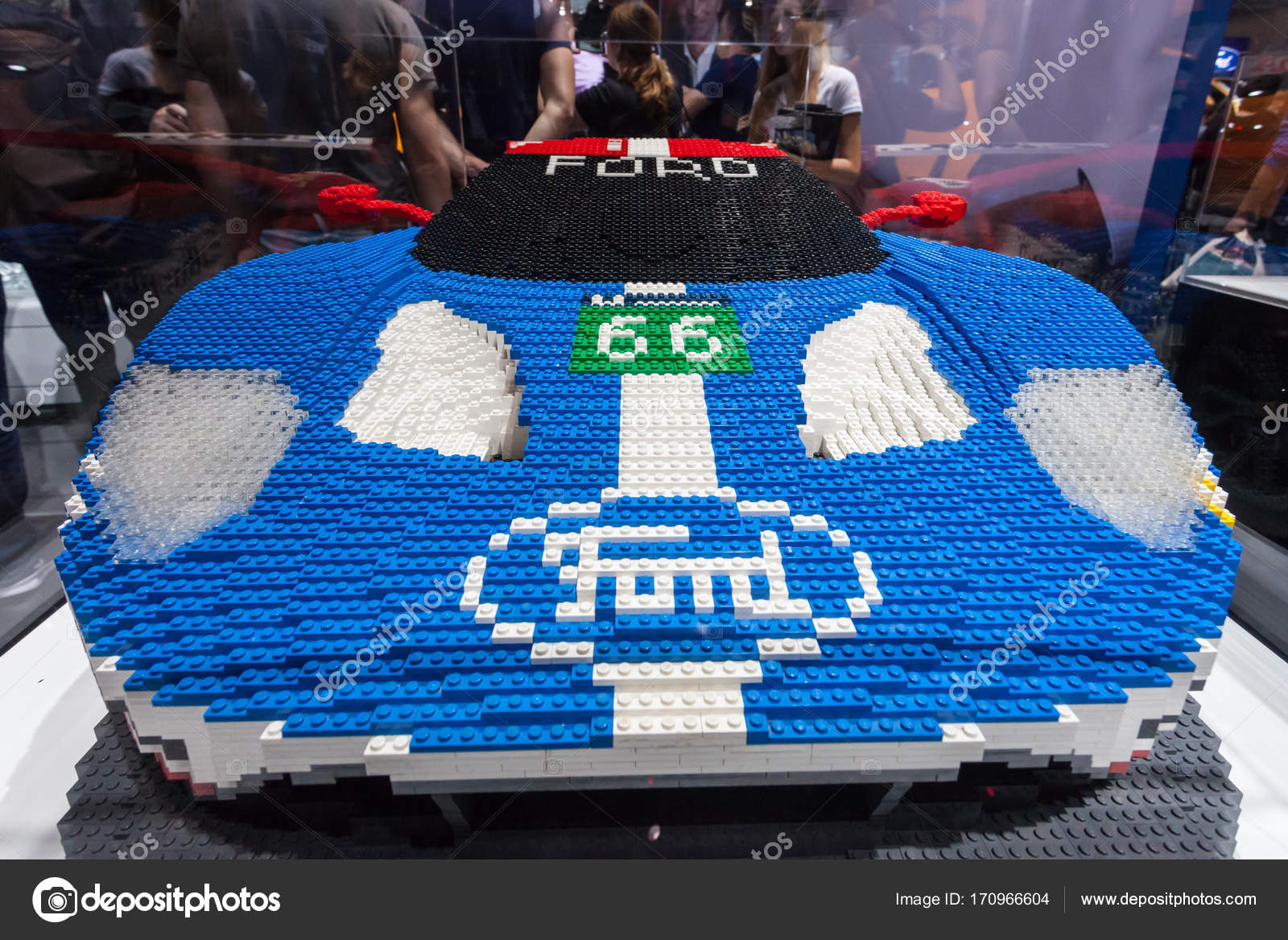 Ford Gt  Lego Build Stock Photo