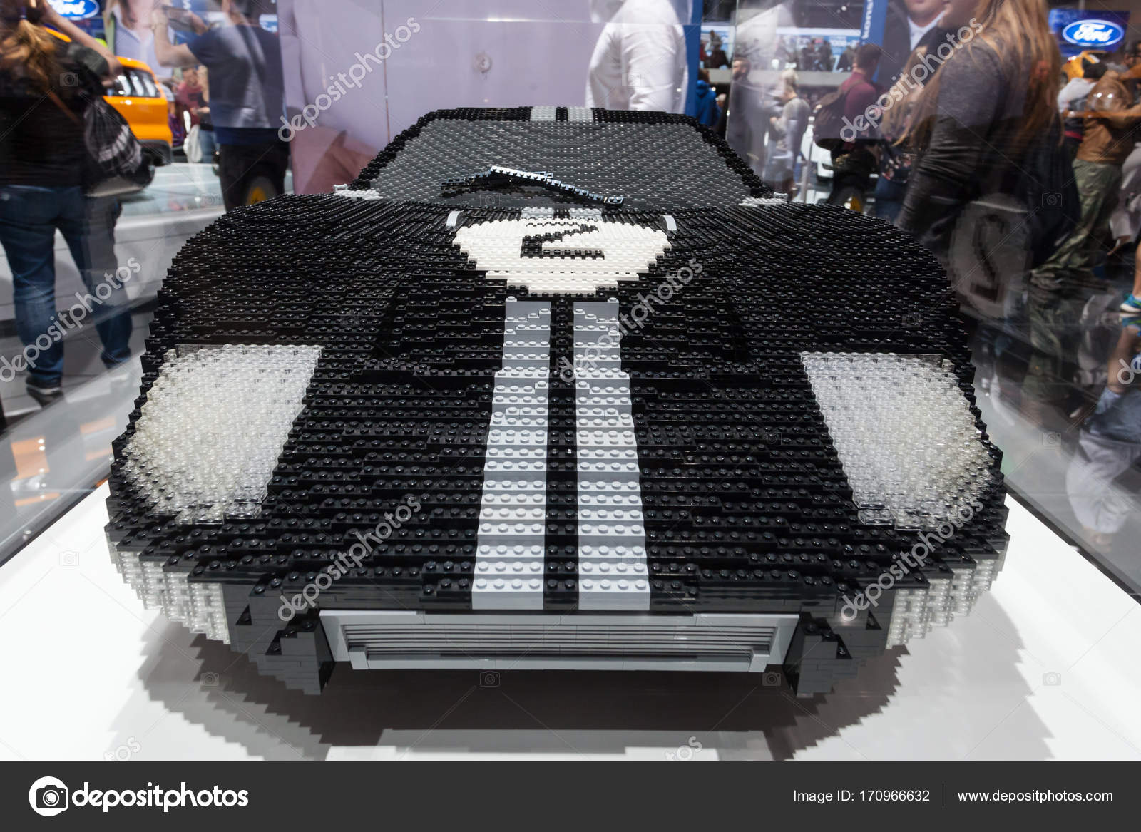 Frankfurt Germany Sep   Lego Build Ford Gt  Supercar At The Frankfurt International Motorshow  Photo By Philipus