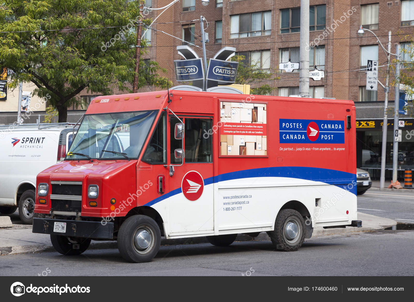 canada post delivery hours грузовик доставки почты post канада стоковое 17145 | depositphotos 174600460 stock photo canada post mail delivery truck
