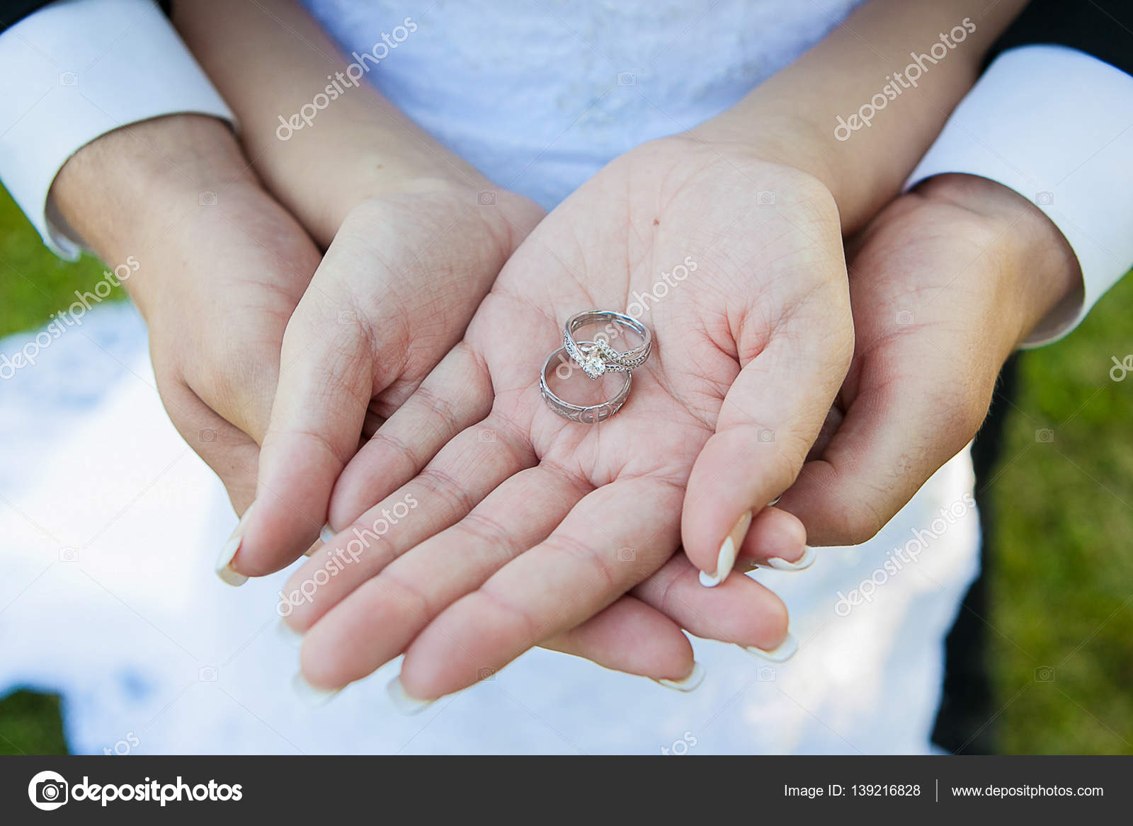 Wedding Rings On Hands | Wedding Rings With Hands Stock Photo C Mulder32 139216828