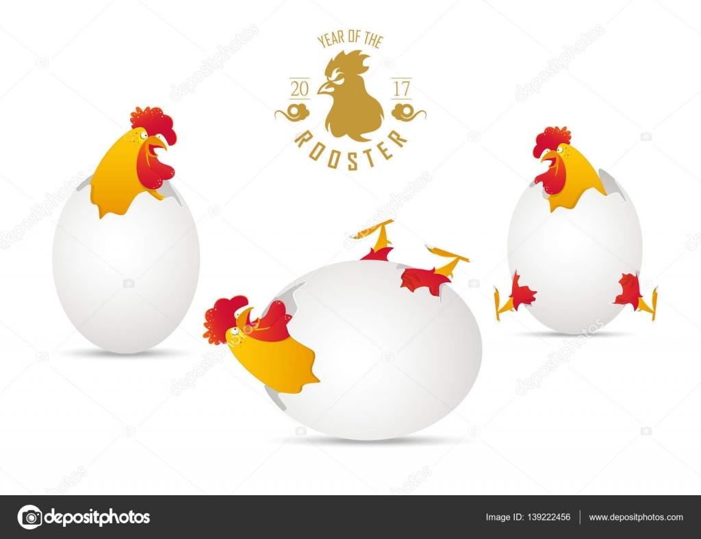2017 joyeux nouvel an chinois ann e du coq coq color avec une coquille d oeuf cass poulet - Cloque du pecher coquille d oeuf ...
