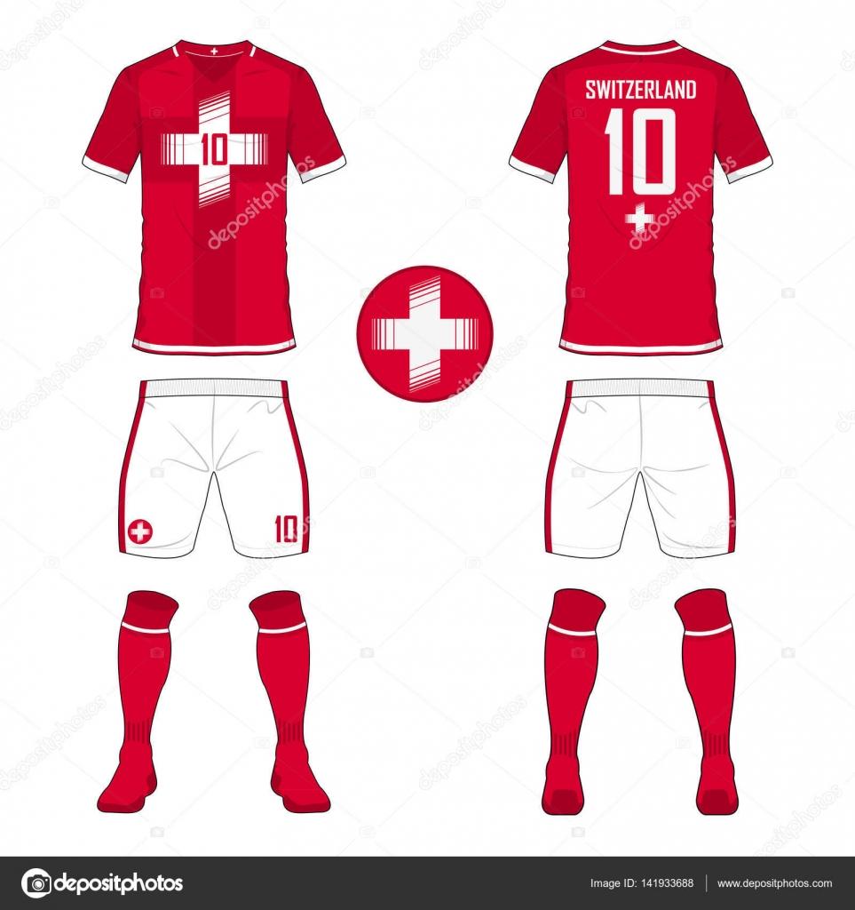 Conjunto de plantilla de equipo de fútbol jersey o fútbol para la ...