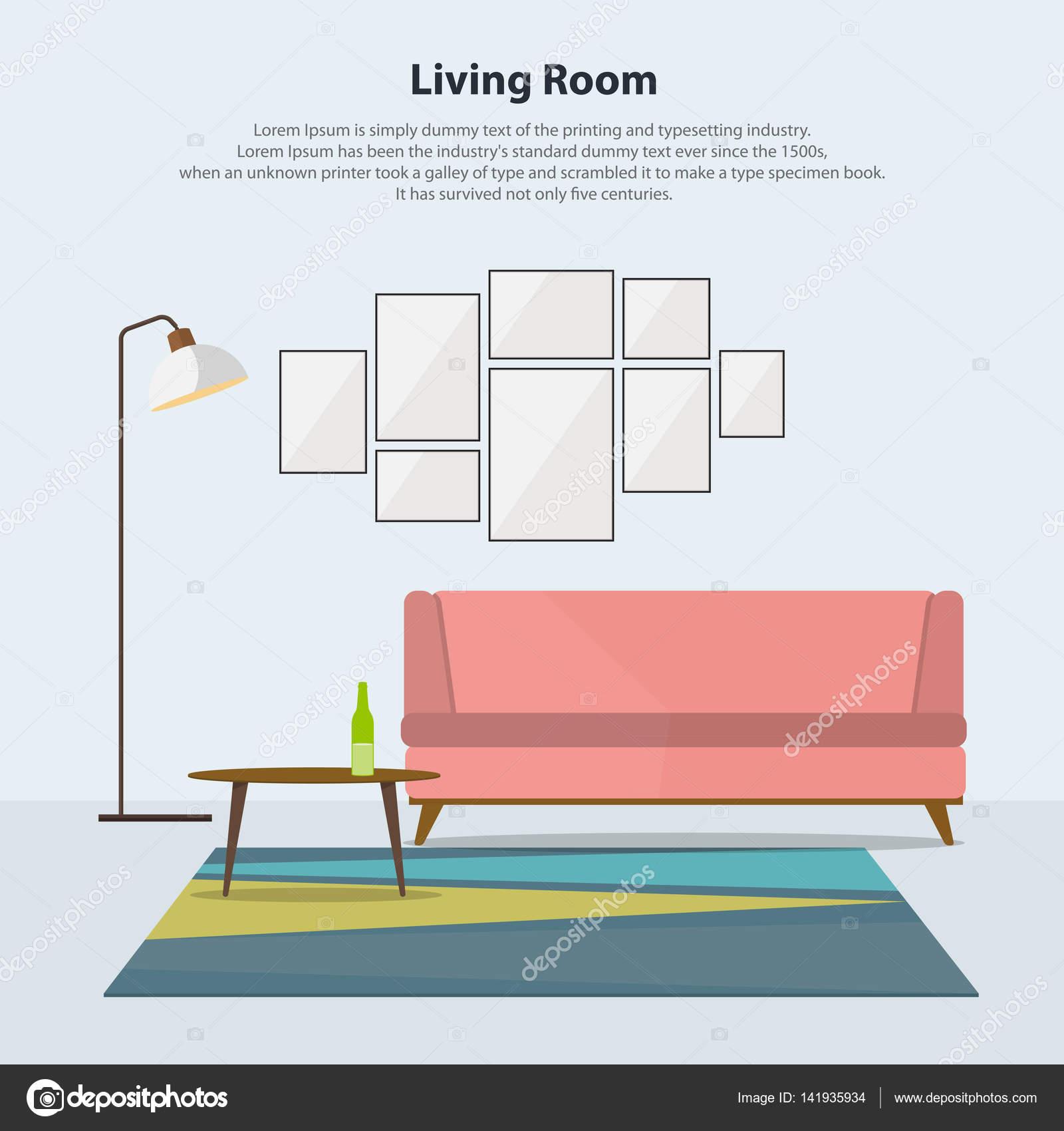Bezaubernd Moderne Tischlampen Ideen Von Wohnzimmer Interieur Mit Rosa Sofa, Tisch, Lampen