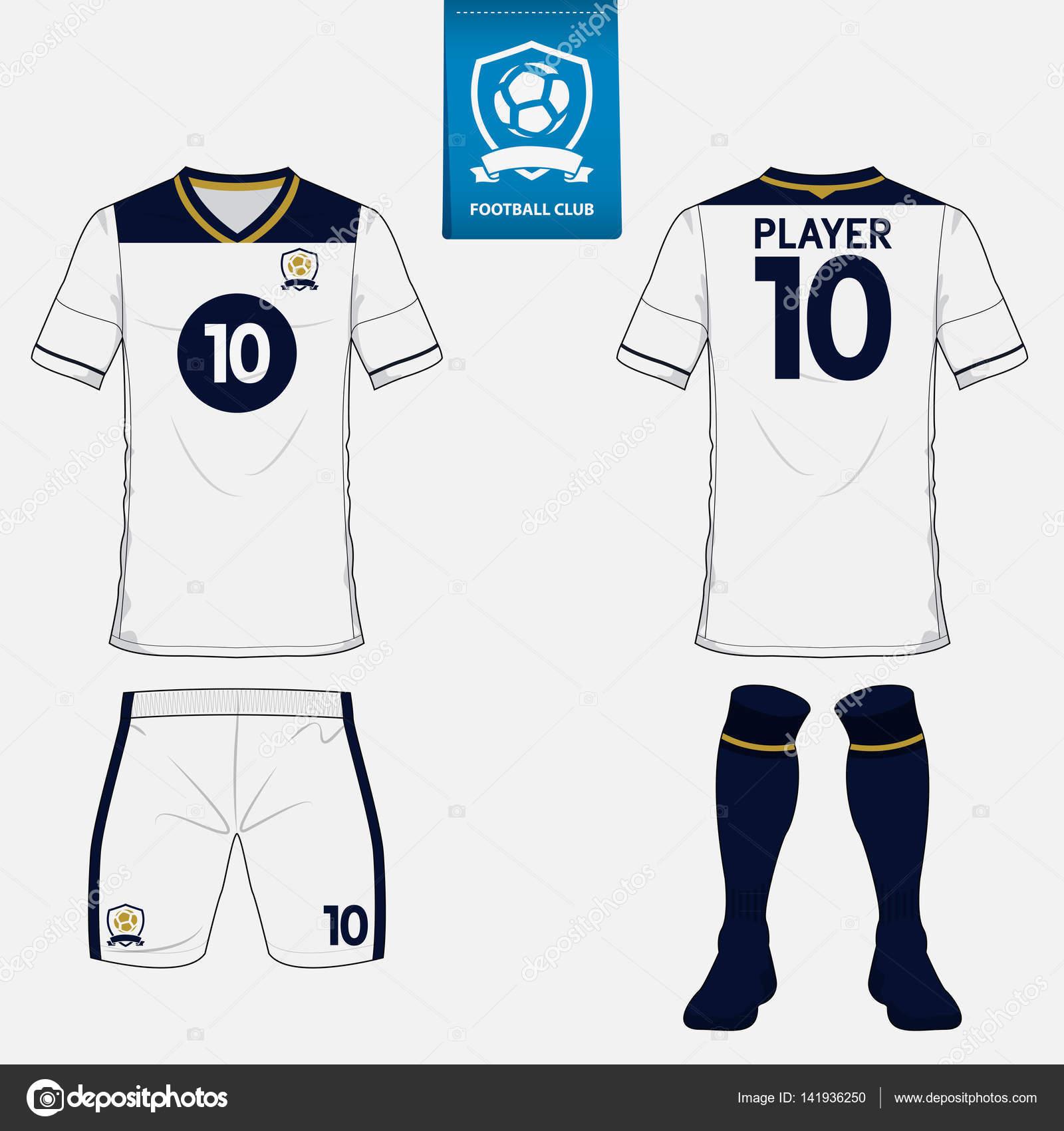 Satz von Fußball-Kit oder Fußball Trikot Vorlage für Football Club ...