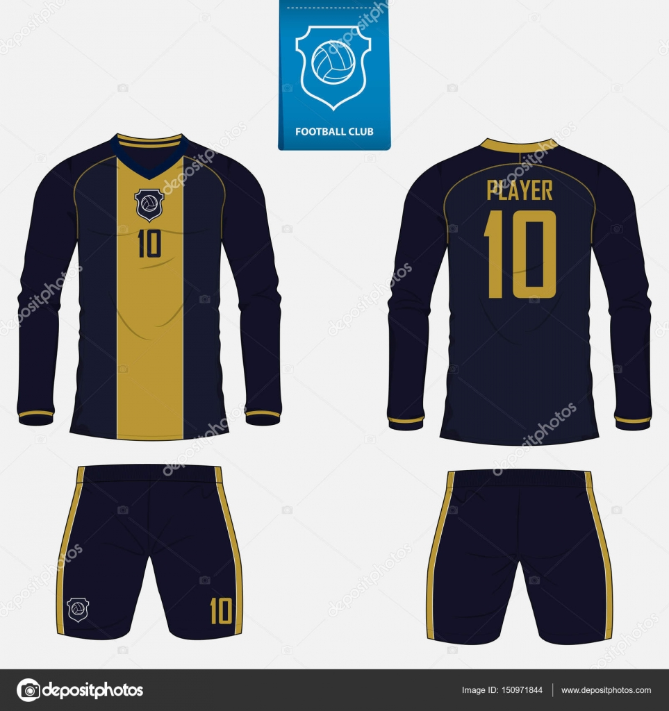 set of soccer kit or football jersey template for football club