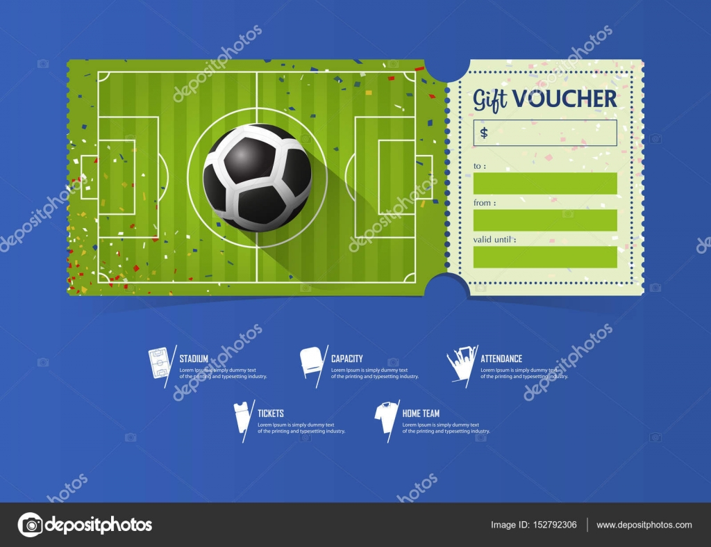 Tickets template design for football or soccer match gift tickets template design for football or soccer match gift vouchers or certificate coupons vector 1betcityfo Image collections
