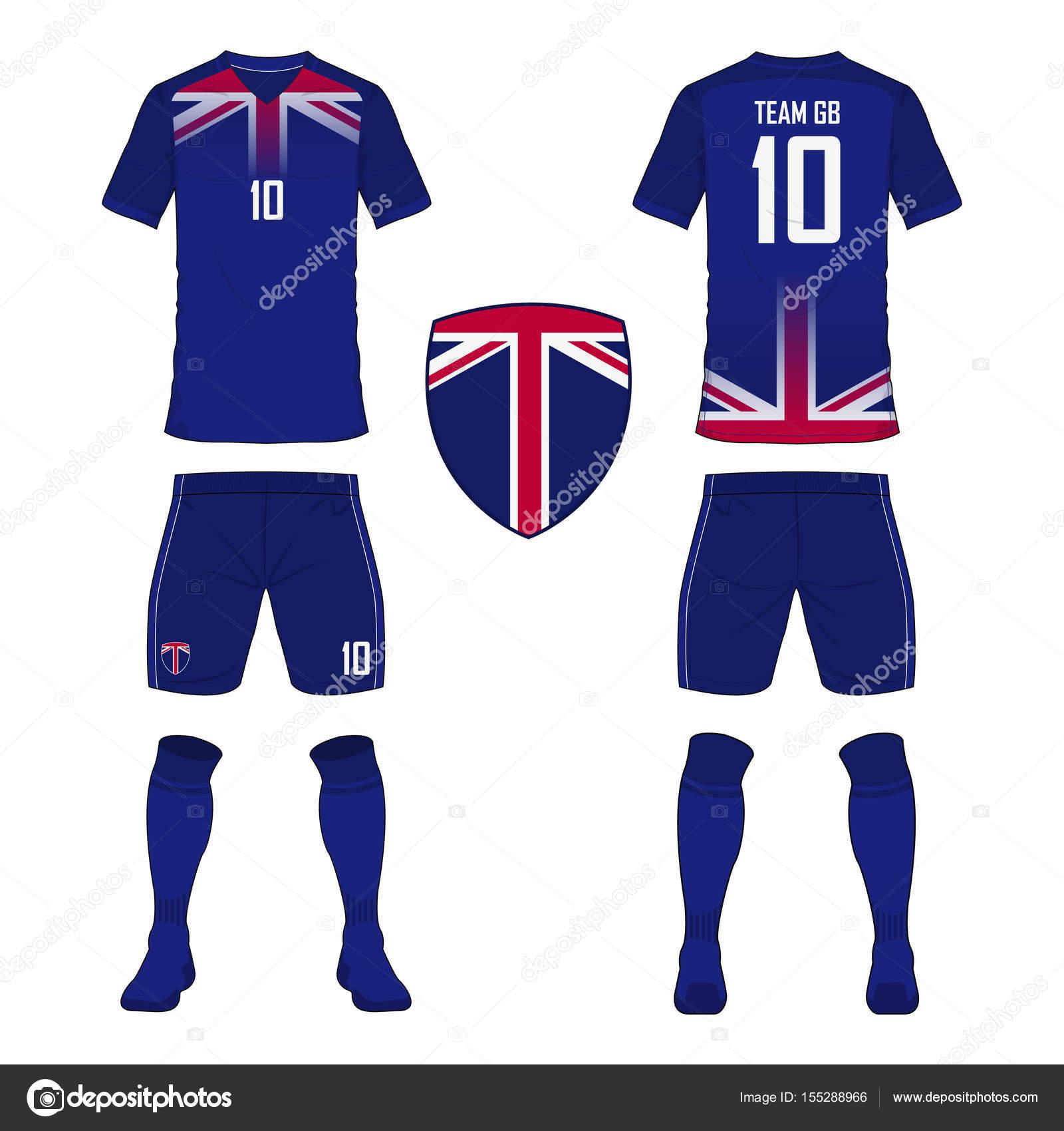 Fußball Trikot oder Fußball Kit Vorlage für Großbritannien-Fußball ...