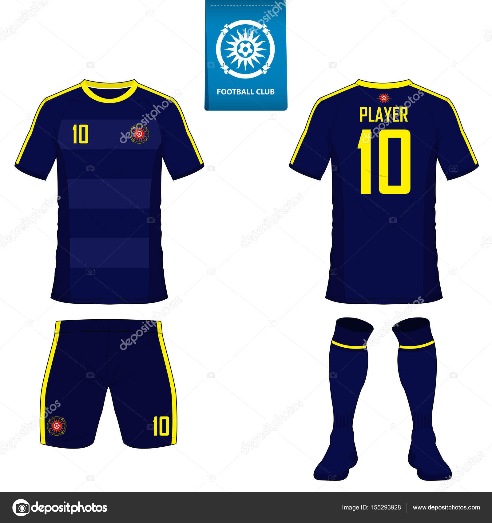 soccer kit or football jersey template for football club short