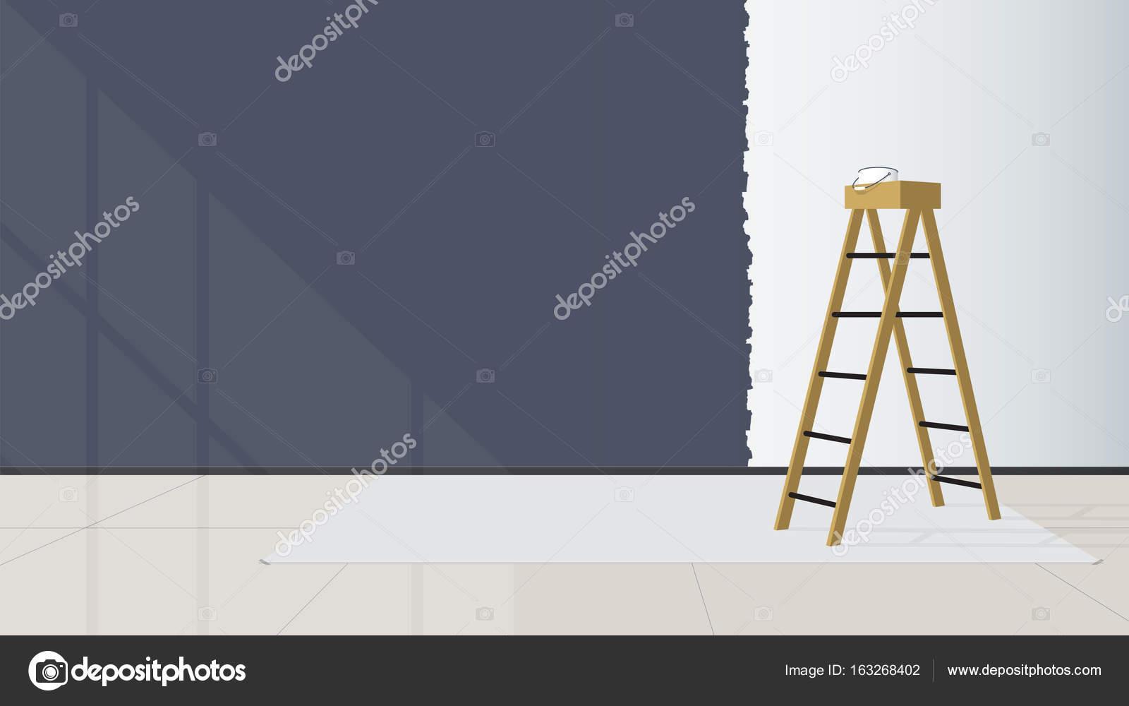 Huis interieur de trap worden geplaatst in het midden van de
