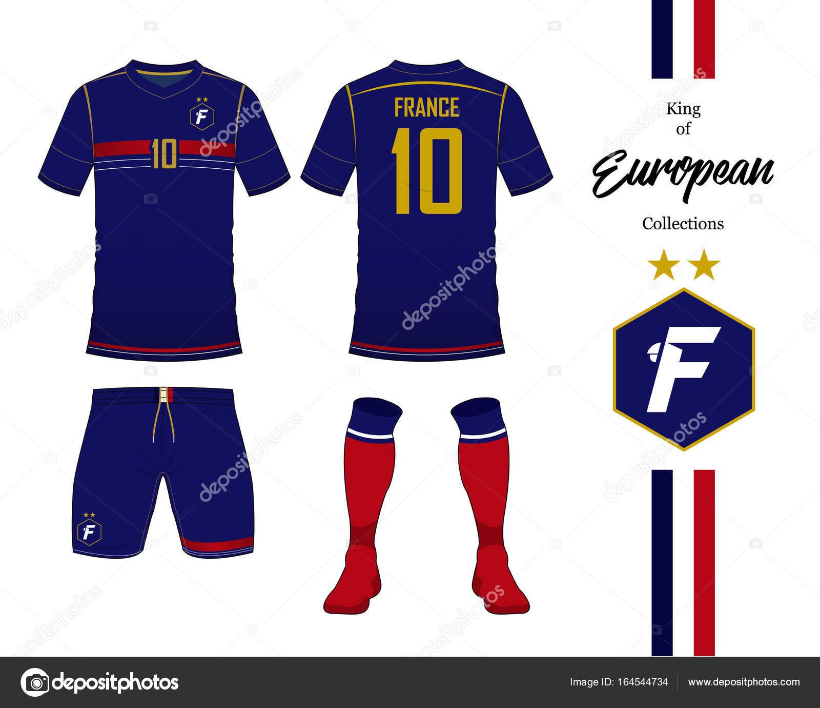 France Football National Team Uniform Soccer Jersey Or Football Kit