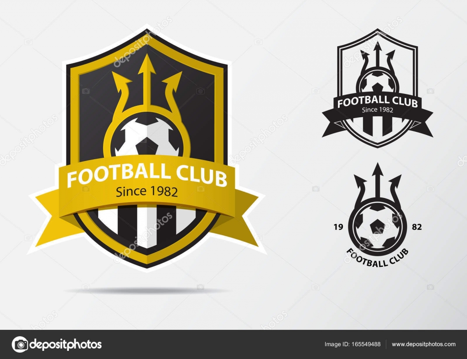 Soccer or football badge logo design for football team minimal soccer or football badge logo design for football team minimal design of golden fork and buycottarizona