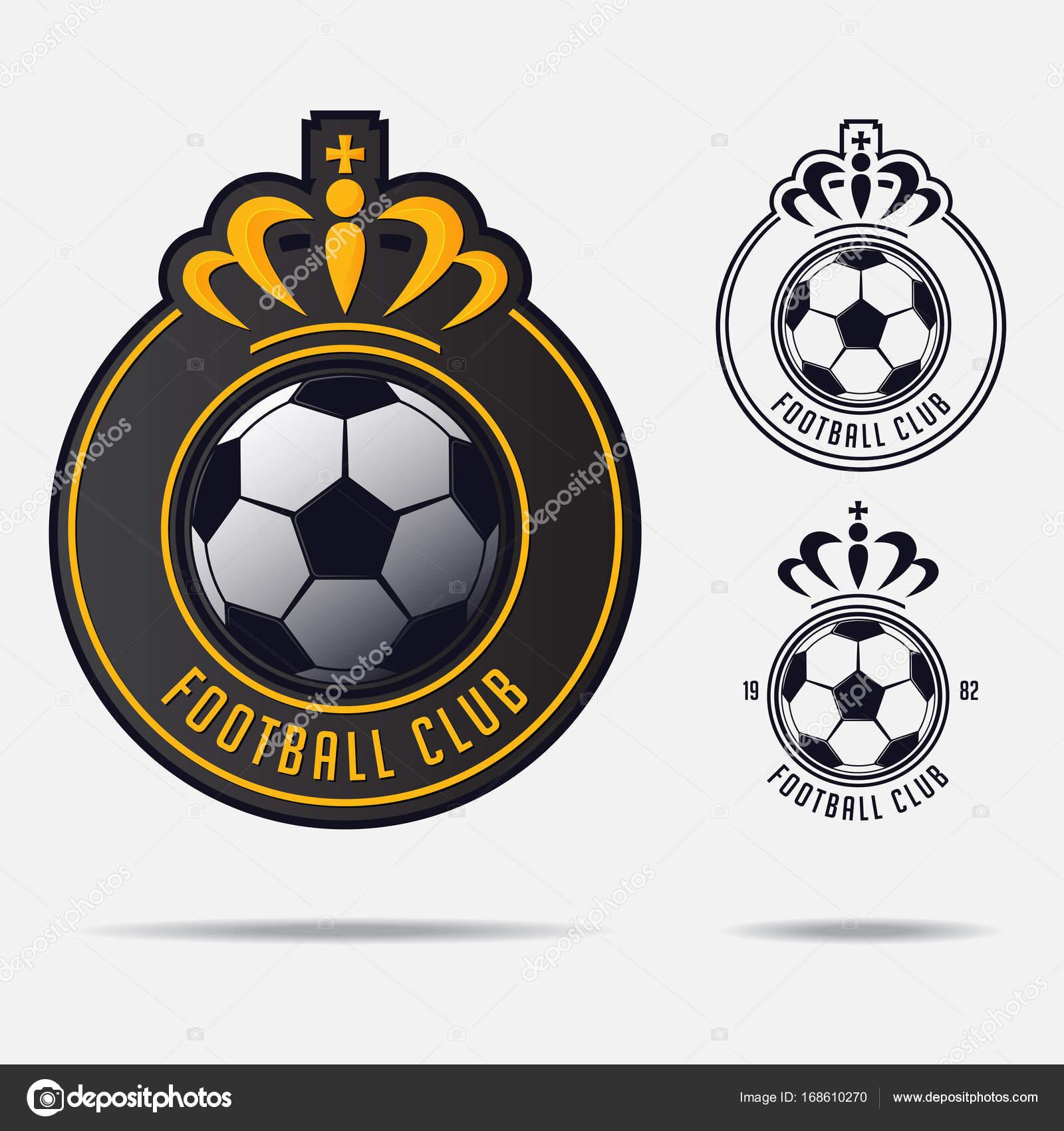 Soccer emblem or football badge logo design for football team soccer emblem or football badge logo design for football team minimal design of golden crown buycottarizona