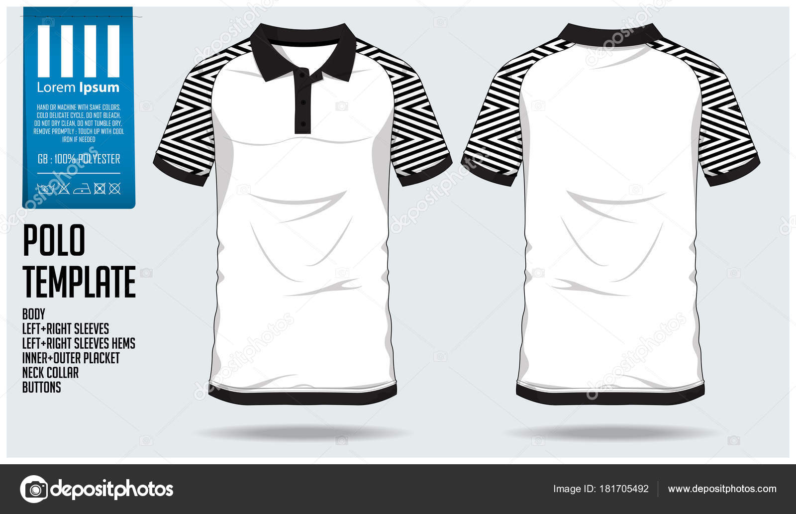 polo t shirt sport design template for soccer jersey football kit