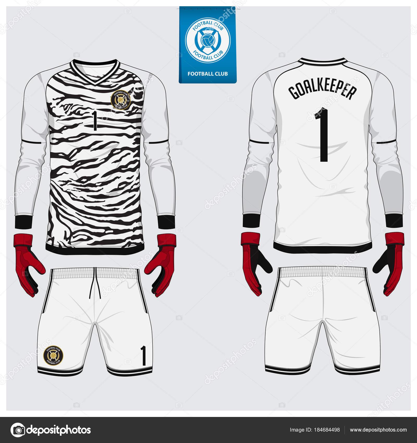 Portero camiseta fútbol kit o, diseño de plantillas de guante de ...