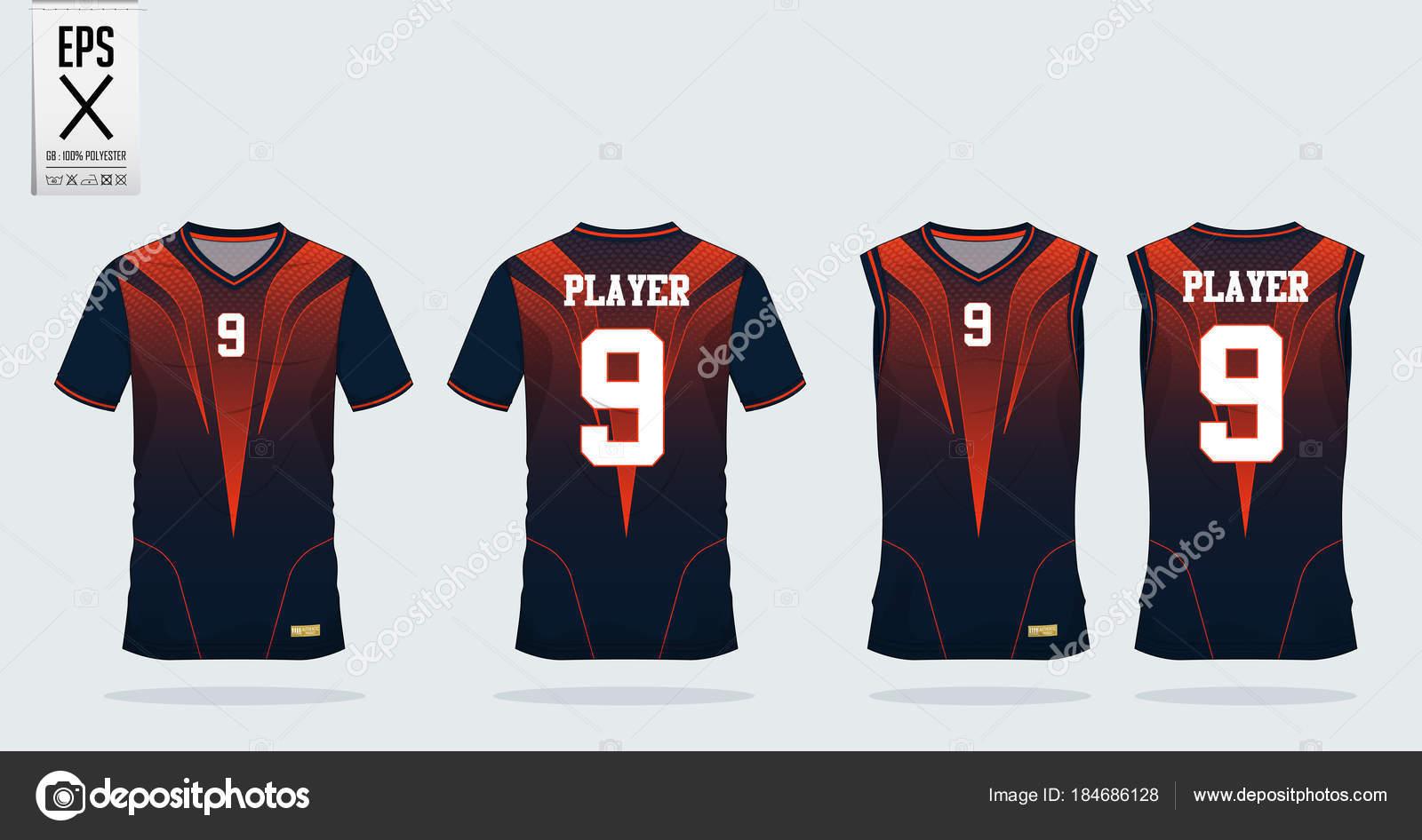 Laranja-preto camiseta esporte modelo de design para a camisa de futebol 68f326ef72495
