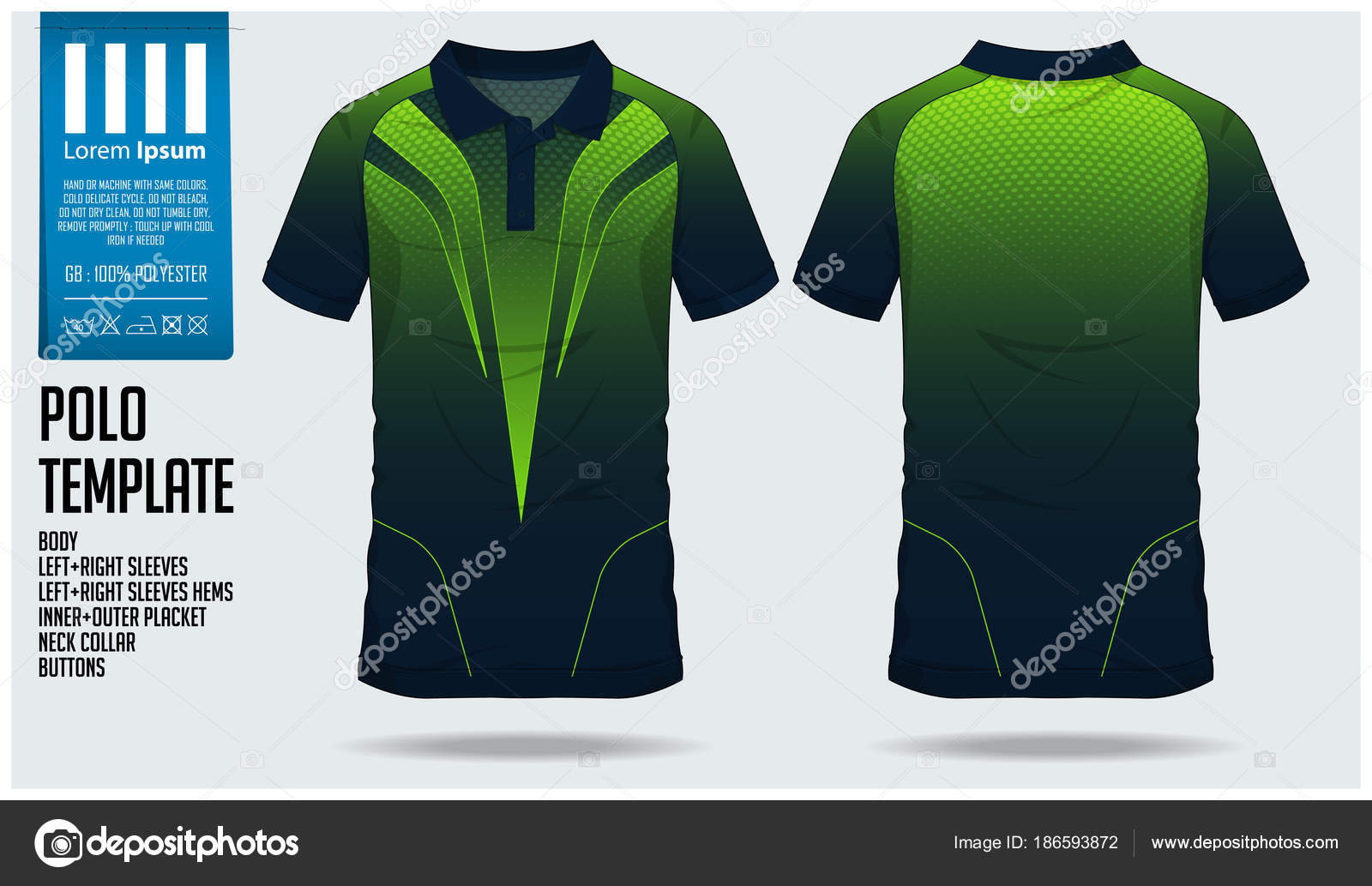 143932c2a Green Polo t shirt sport design template for soccer jersey, football kit or  sport club.