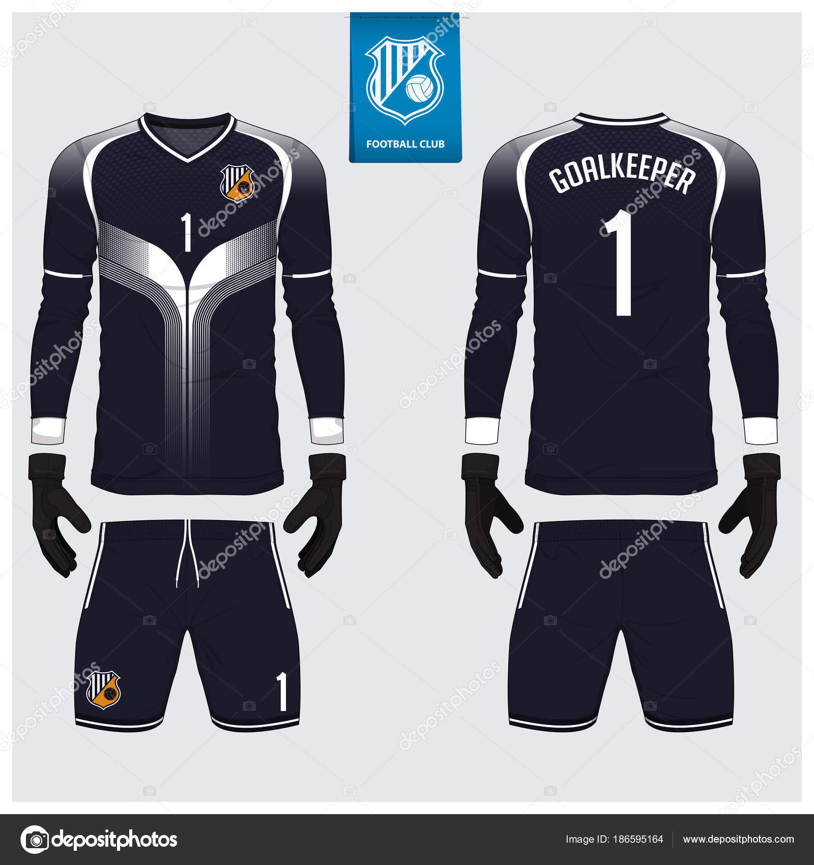 Negro y kit de fútbol o jersey blanco portero 521eeacc3cacf