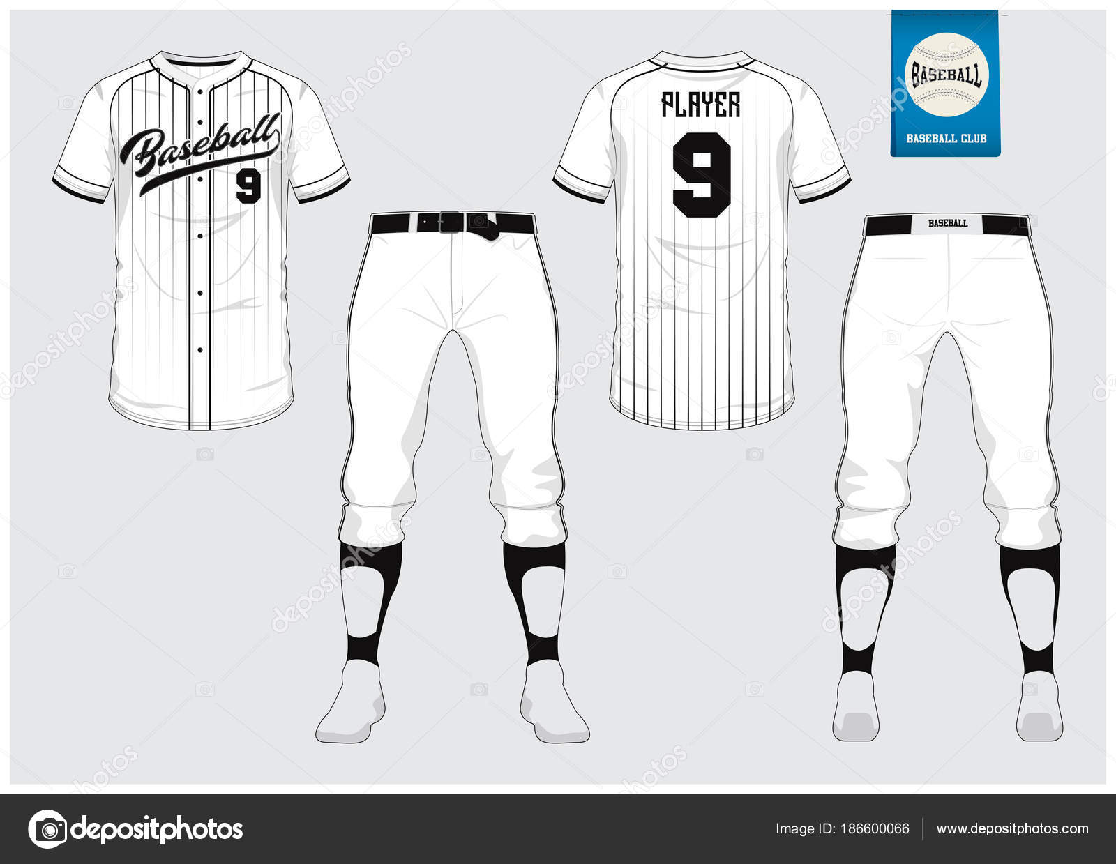 baseball jersey sport uniform raglan t shirt sport short sock template baseball t shirt mock up front and back view baseball uniform flat baseball