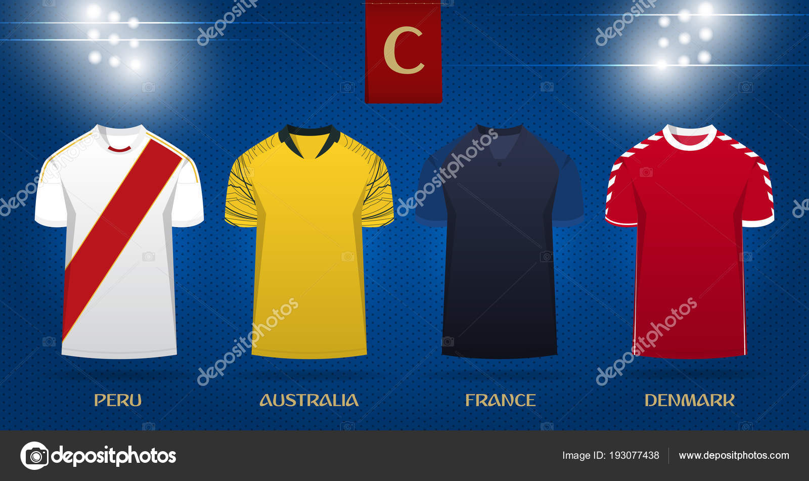 Soccer Kit Or Football Jersey Template Design For National Football