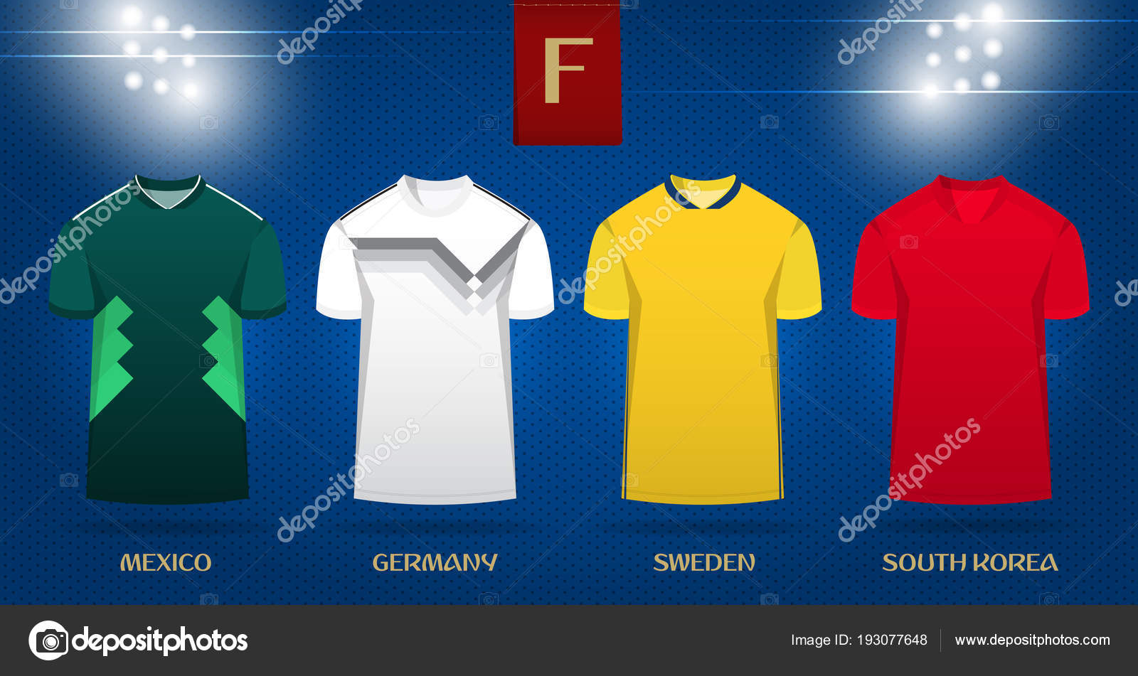 9d77cadf6 Vector.– stock illustration. Soccer kit or football jersey template design  for national football team. Front view soccer uniform