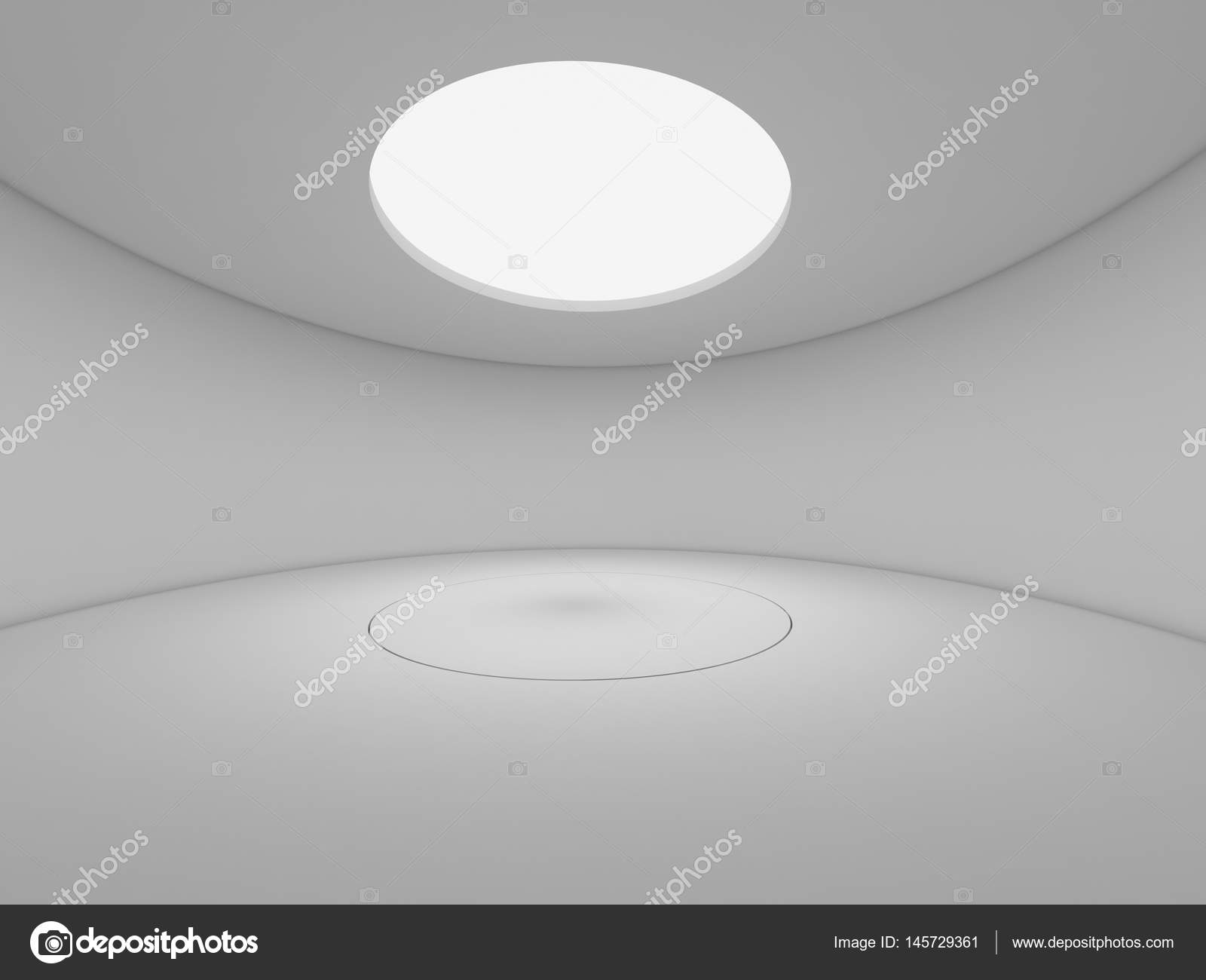 3d Rendering Abstrakt Weiß Gestalten Raum Abbildung Interieur